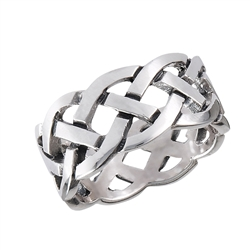 Sterling Silver Celtic Heavy Weave Ring