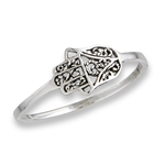 Sterling Silver Medium Hamsa Ring