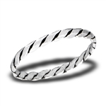 Sterling Silver Micro Twist Ring