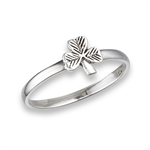 Sterling Silver Small Clover Ring