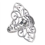 Sterling Silver Filigree with Scroll Ring