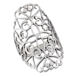 Sterling Silver Large Filigree Ring