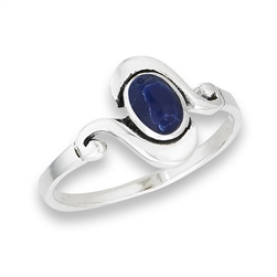 Sterling Silver Modern Ring With Synthetic Sodalite