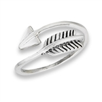 Sterling Silver Feather And Arrow Ring