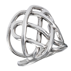 Sterling Silver Celtic Heavy Wire Weave Ring