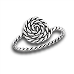 Sterling Silver Coiled Rope Ring