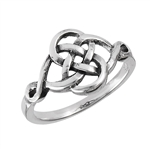 Sterling Silver Interwoven Celtic Ring