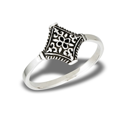 Sterling Silver Ornate Victorian Filigree Ring