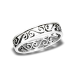 Sterling Silver Repeating Swirl Ring