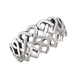 Sterling Silver Celtic Endless Heart Ring