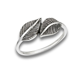 Sterling Silver Leaf Friends Ring