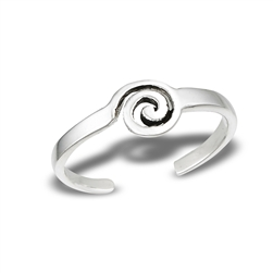Sterling Silver Swirl Toe Ring