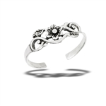 Sterling Silver Small Flower Toe Ring
