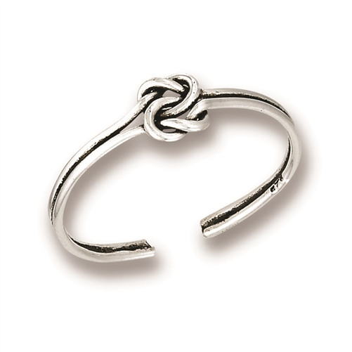 Sterling Silver Wire Wrap Knot Toe Ring