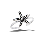 Sterling Silver Starfish Toe Ring