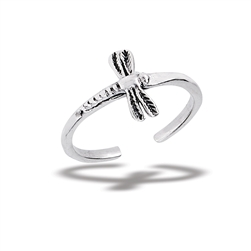 Sterling Silver Dragonfly Toe Ring