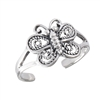 Cute 10 mm Sterling Silver Butterfly Toe Ring in Wholesale Bulk Purchasing