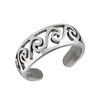 Stylish 7 mm Sterling Silver Swirl Toe Ring in Wholesale Bulk Purchasing