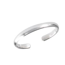 Thin, Simple & Stylish 2 mm Sterling Silver Toe Ring in Wholesale Bulk Purchasing