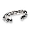 Sterling Silver Handmade Interwoven Rope Toe Ring