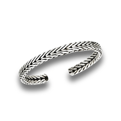 Sterling Silver Double Weave Toe Ring