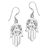 Sterling Silver Hand of Fatima Earring