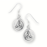 Sterling Silver Celtic Intricate Triquetra Earring