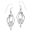 Sterling Silver weave dangle Celtic Earring