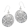 Sterling Silver heavy Round Endless Knot Celtic Earring