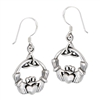 Sterling Silver Celtic Claddagh and Triquetra Earring