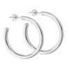 Sterling Silver 4 mm x 35 mm Heavy High Polish Hoop Earring