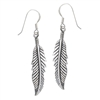 Sterling Silver Feather Earring