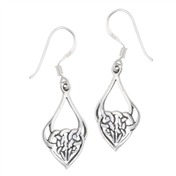 Sterling Silver Celtic and Heart Earring