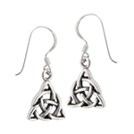 Sterling Silver Interwoven Triquetra Earring