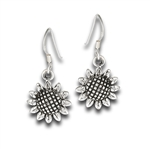 Sterling Silver Dangling Sunflower Earring