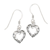 Sterling Silver Celtic Filigree Heart Earring