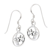 Sterling Silver Moon and Star Earring