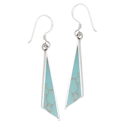 Sterling Silver Synthetic Turquoise Earring