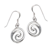 Sterling Silver Swirl Dangle  Earring