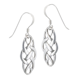 Sterling Silver Celtic Interwoven Dangle Earring
