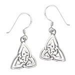 Sterling Silver Double Triquetra Earring