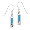 Sterling Silver Earring with Synthetic Turquoise