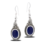 Sterling Silver Earring with Synthetic Sodalite