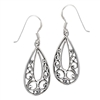 Sterling Silver Heavy Filligree Scroll Earring