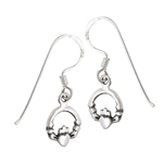 Sterling Silver Small Claddagh Earring