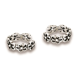 Sterling Silver Bunch O' Flowers Ear Cuff