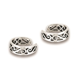 Sterling Silver Multiple Swirl Ear Cuff