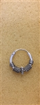 Sterling Silver 2 mm x 14 mm Bali Hoop Earring