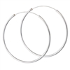 Sterling Silver 2 mm x 50 mm Continuous Hoop Earring