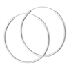 Sterling Silver 2 mm x 40 mm Continuous Hoop Earring
